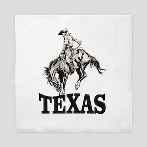 cowboy rides again in texas Queen Duvet