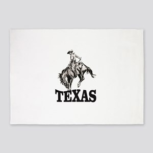 cowboy rides again in texas 5'x7'Area Rug