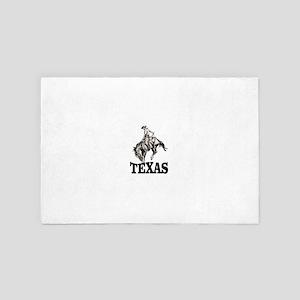 cowboy rides again in texas 4' x 6' Rug