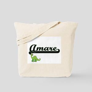 Amare Classic Name Design with Dinosaur Tote Bag