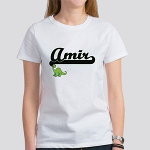 Amir Classic Name Design with Dinosaur T-Shirt