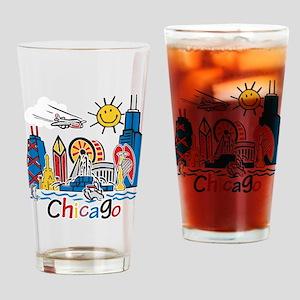 Chicago Kids Dark Drinking Glass