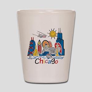 Chicago Kids Dark Shot Glass