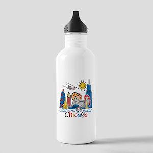 Chicago Kids Dark Water Bottle