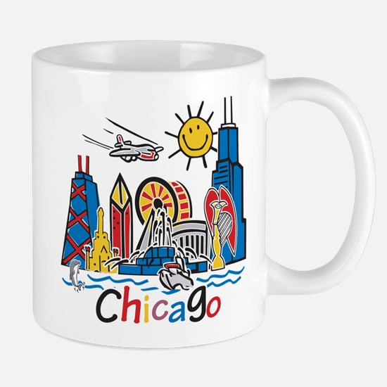 Chicago Kids Dark.png Mugs
