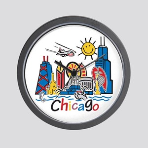 Chicago Kids Dark Wall Clock
