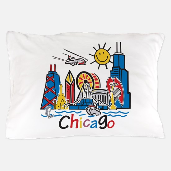 Chicago Kids Dark.png Pillow Case