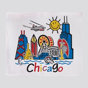 Chicago Kids Dark Throw Blanket