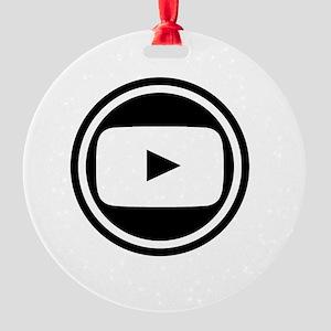 Youtube Round Ornament