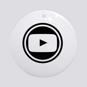 Youtube Round Ornament