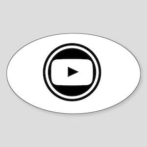 Youtube Sticker (Oval)