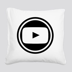 Youtube Square Canvas Pillow