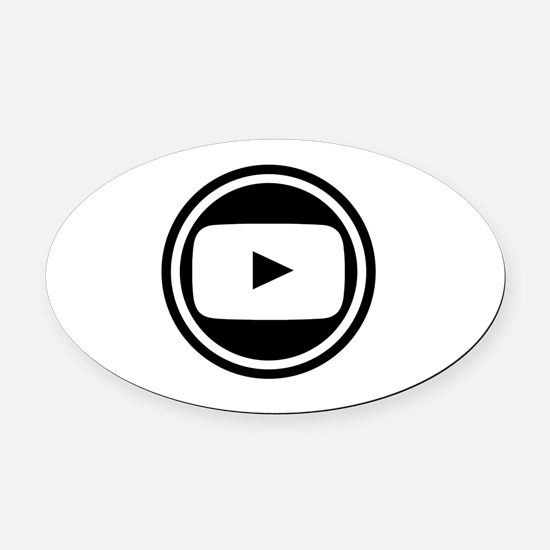 Youtube Oval Car Magnet