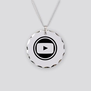 Youtube Necklace Circle Charm