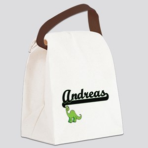 Andreas Classic Name Design with Canvas Lunch Bag