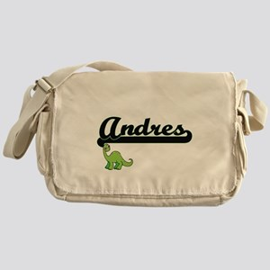 Andres Classic Name Design with Dino Messenger Bag