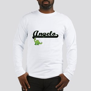 Angelo Classic Name Design wit Long Sleeve T-Shirt
