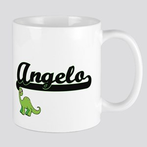 Angelo Classic Name Design with Dinosaur Mugs