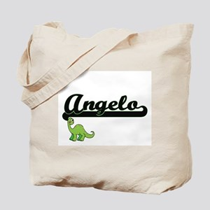 Angelo Classic Name Design with Dinosaur Tote Bag