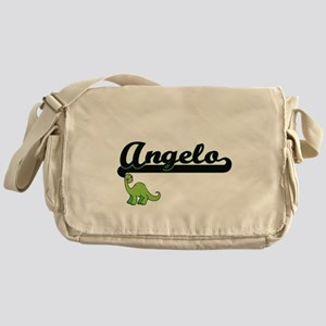 Angelo Classic Name Design with Dino Messenger Bag