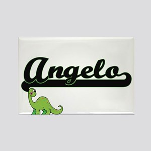 Angelo Classic Name Design with Dinosaur Magnets
