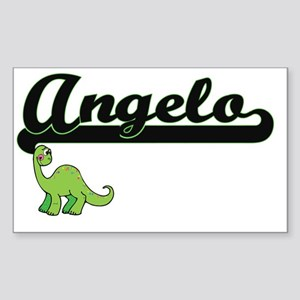 Angelo Classic Name Design with Dinosaur Sticker