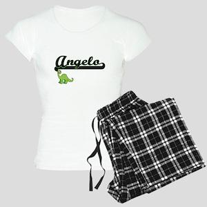 Angelo Classic Name Design Women's Light Pajamas