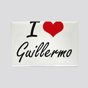 I Love Guillermo Magnets