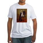 Lincoln-WireFoxT Fitted T-Shirt