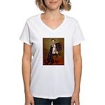 Lincoln-WireFoxT Women's V-Neck T-Shirt