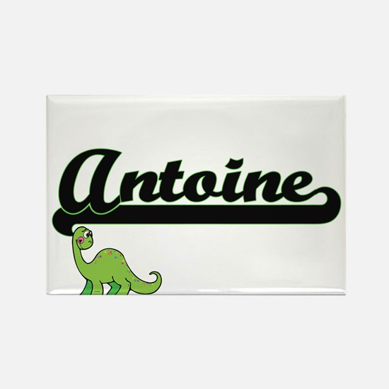 Antoine Classic Name Design with Dinosaur Magnets