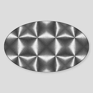 silver geometric pattern industrial Sticker