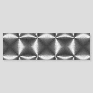 silver geometric pattern industrial Bumper Sticker
