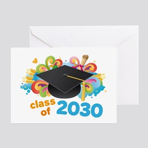 Class Of 2030 Graduation Party Greeting Card