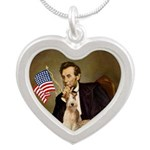 Lincoln-WireFoxT Silver Heart Necklace