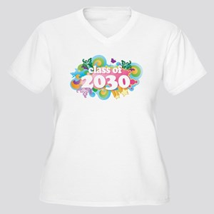 2030 Graduate Women's Plus Size V-Neck T-Shirt