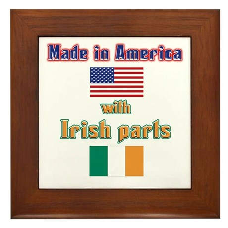 Made in American with Irish p Framed Tile