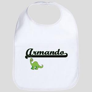 Armando Classic Name Design with Dinosaur Bib