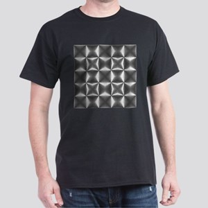silver geometric pattern industrial T-Shirt