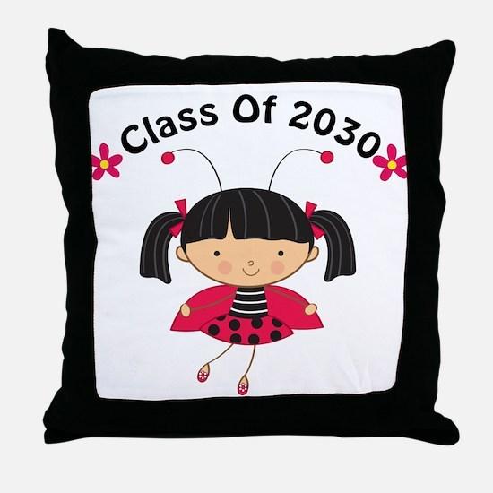Class of 2030 ladybug Throw Pillow