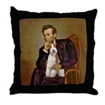 Lincoln-WireFoxT Throw Pillow