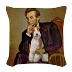 Lincoln-WireFoxT Woven Throw Pillow
