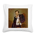 Lincoln-WireFoxT Square Canvas Pillow