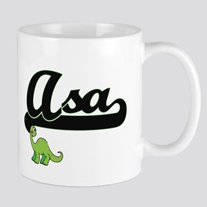 Asa Classic Name Design with Dinosaur Mugs