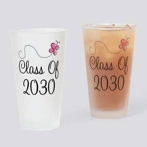 Class Of 2030 butterfly Drinking Glass