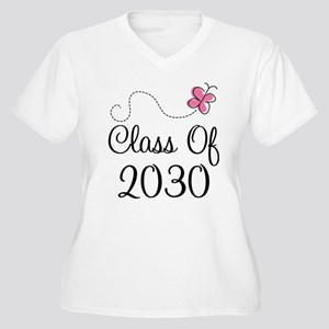 Class Of 2030 but Women's Plus Size V-Neck T-Shirt