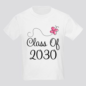 Class Of 2030 butterfly Kids Light T-Shirt
