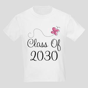 Class Of 2030 butterfly Kids Light T-Shirt