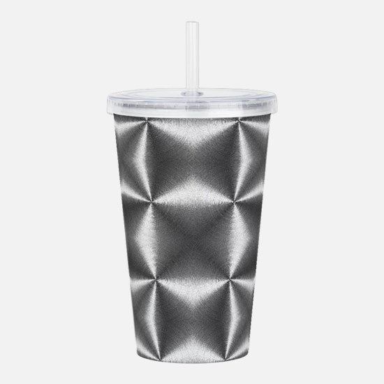 silver geometric patte Acrylic Double-wall Tumbler