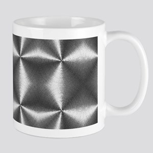 silver geometric pattern industrial Mugs